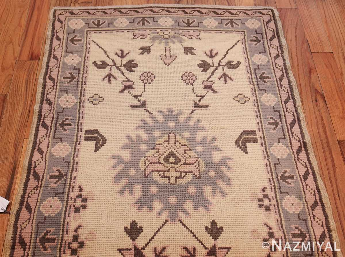 decorative antique turkish oushak runner rug 41776 top Nazmiyal