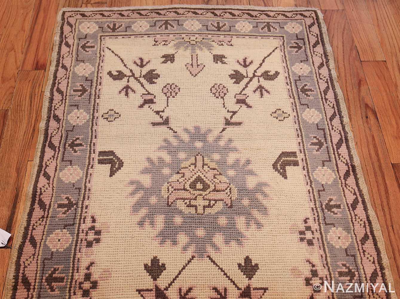 decorative antique turkish oushak runner rug 41776 top Nazmiyal