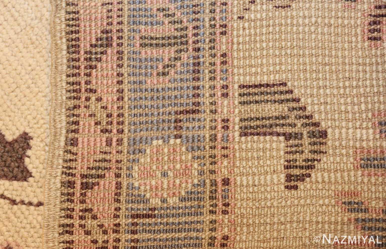decorative antique turkish oushak runner rug 41776 weave Nazmiyal