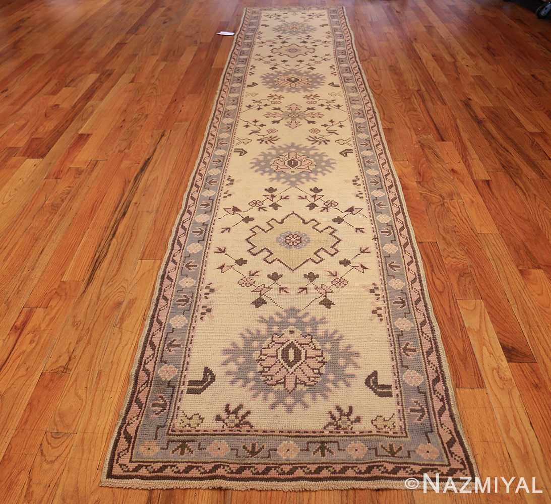 decorative antique turkish oushak runner rug 41776 whole Nazmiyal