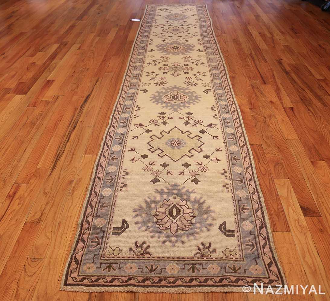 decorative antique turkish oushak runner rug 41776 whole Nazmiyal