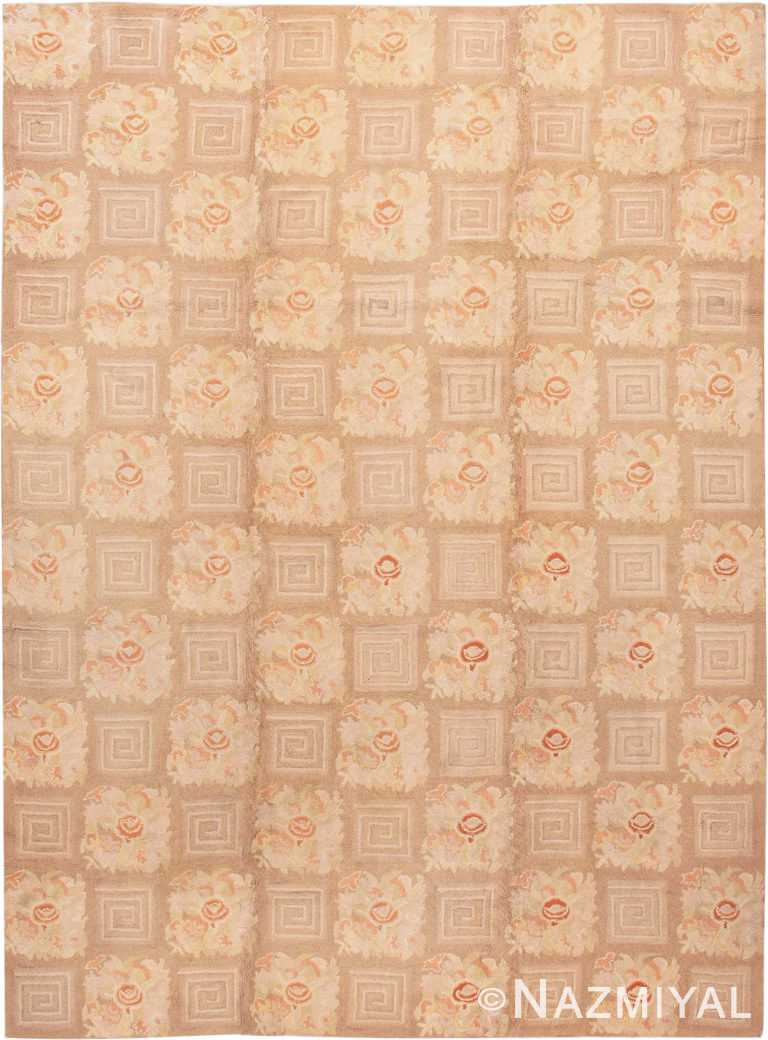 Floral Pattern Room Size Antique American Hooked Rug #2142 by Nazmiyal Antique Rugs