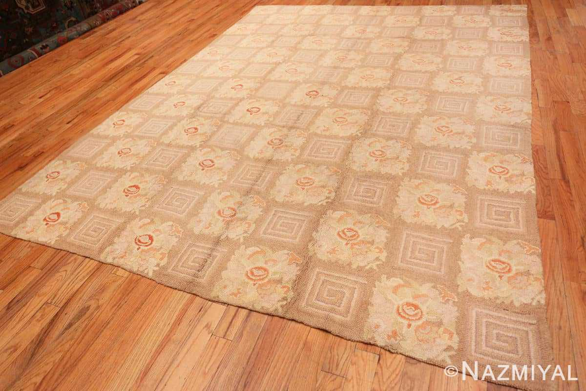 Full floral pattern room size Antique American hooked rug 2142 by Nazmiyal
