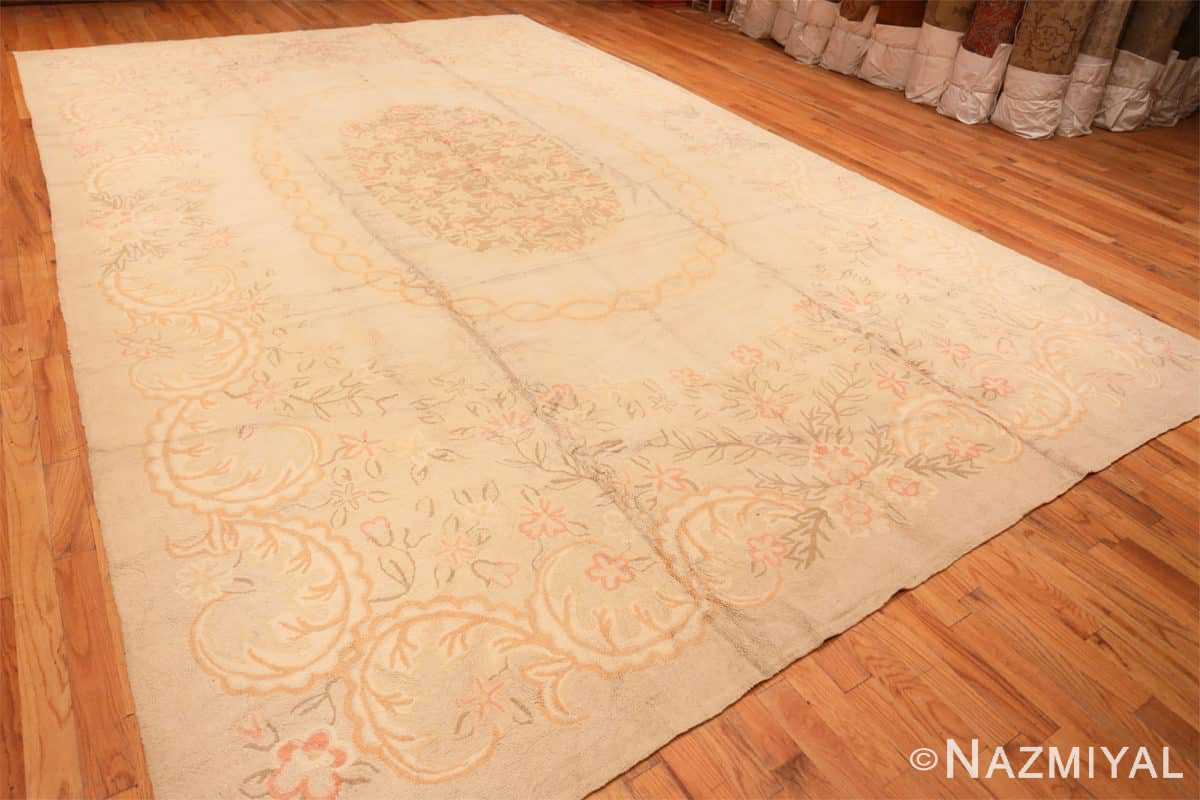 Full Large Antique American hooked rug 2030 by Nazmiyal