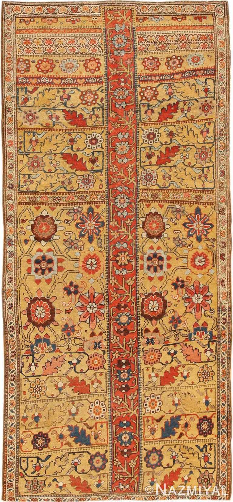 Gold Antique Kurdish Bidjar Persian Sampler Rug #40485 by Nazmiyal Antique Rugs
