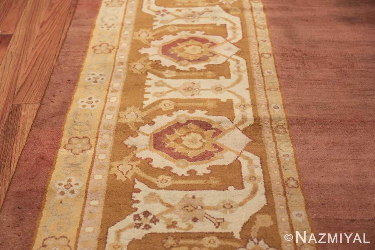 Large and Decorative Antique Indian Amritsar Rug 1950 Border Design Nazmiyal