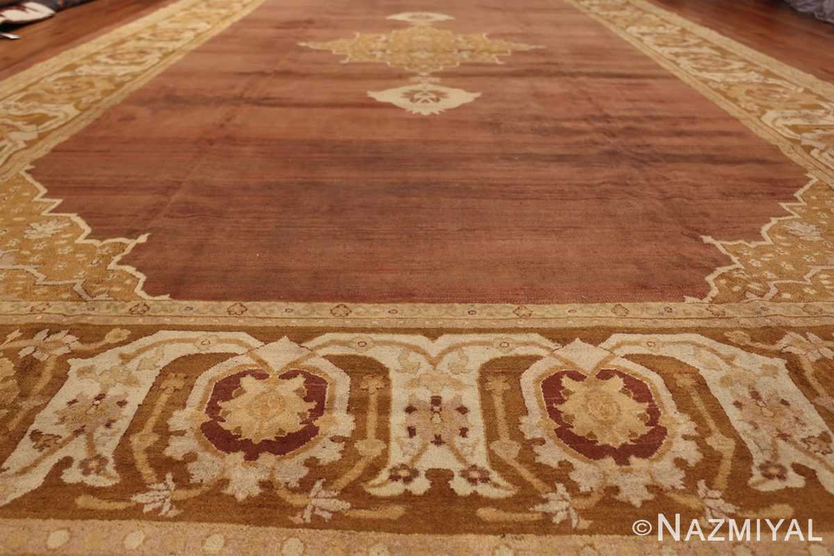 Large and Decorative Antique Indian Amritsar Rug 1950 Field Design Nazmiyal