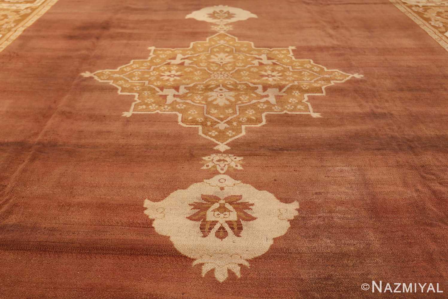 Large and Decorative Antique Indian Amritsar Rug 1950 Middle Part Nazmiyal