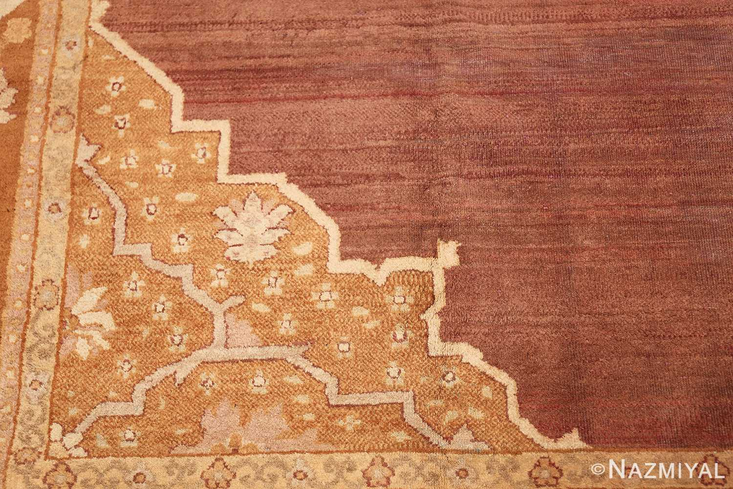 Large and Decorative Antique Indian Amritsar Rug 1950 Side Field Pattern Nazmiyal