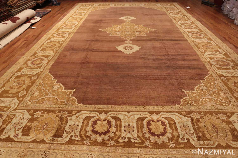 Large and Decorative Antique Indian Amritsar Rug 1950 Whole Design Nazmiyal