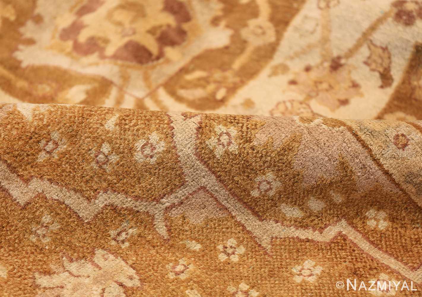 Large and Decorative Antique Indian Amritsar Rug 1950 Yellow Pile Nazmiyal