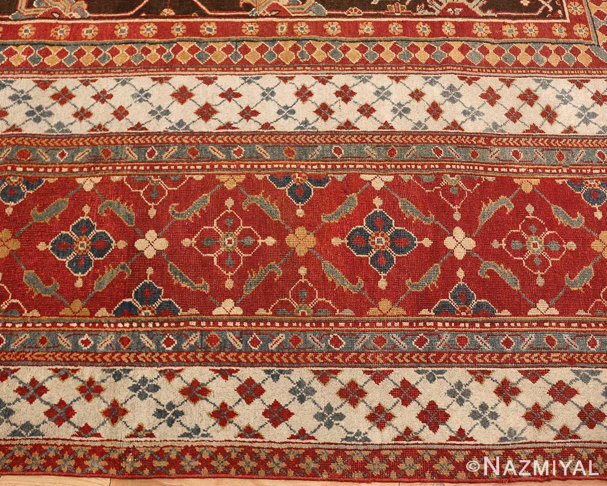 large oversized antique indian agra oriental rug 41340 border Nazmiyal