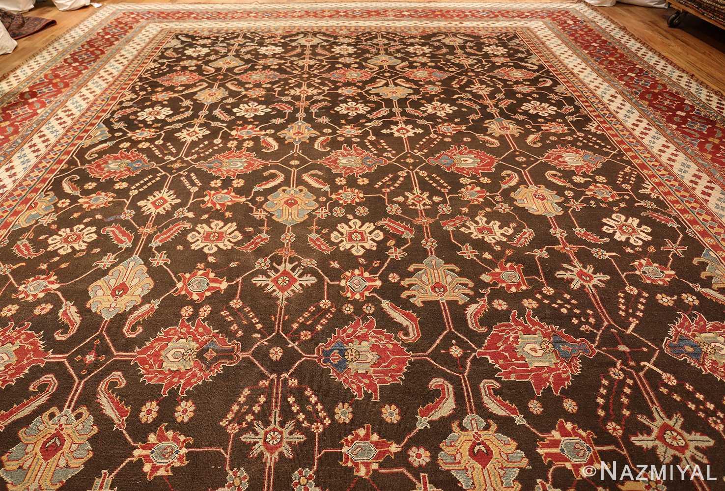 large oversized antique indian agra oriental rug 41340 full Nazmiyal