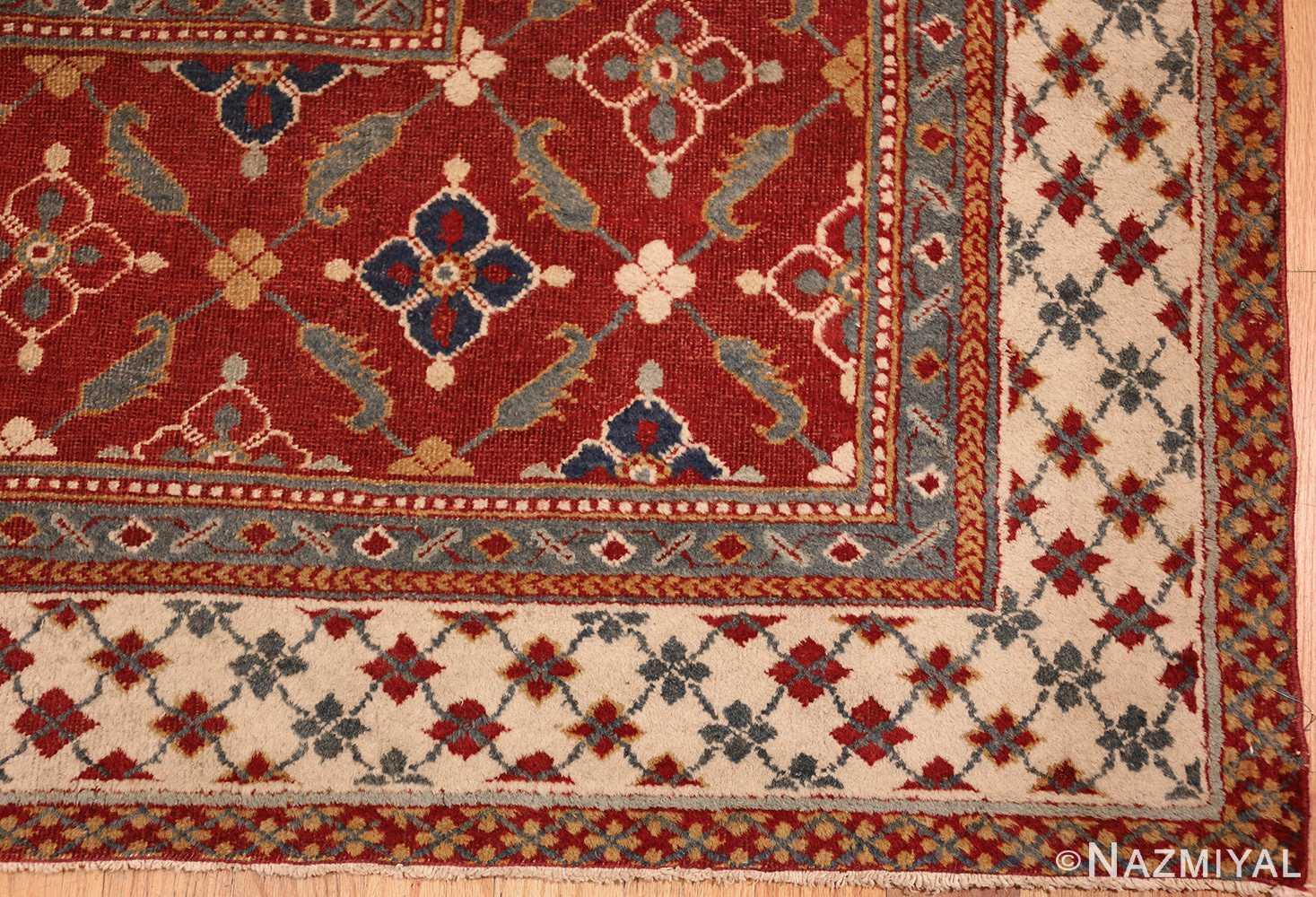 large oversized antique indian agra oriental rug 41340 part Nazmiyal
