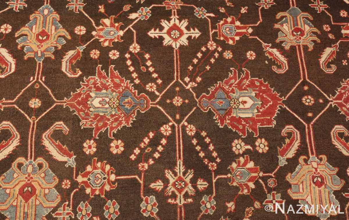 large oversized antique indian agra oriental rug 41340 red Nazmiyal