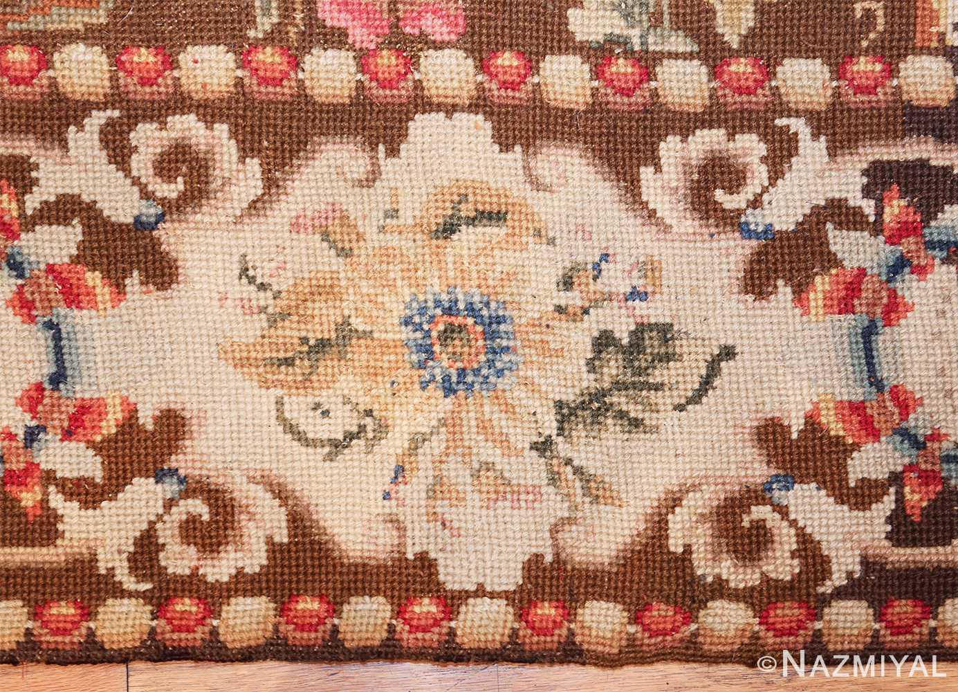 mesmerizing floral antique english needlepoint rug 3000 border Nazmiyal