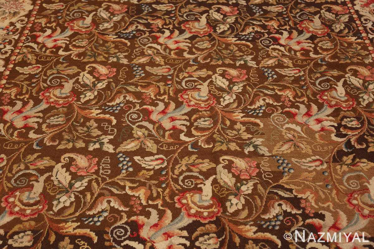 mesmerizing floral antique english needlepoint rug 3000 field Nazmiyal