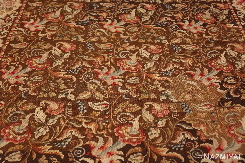 mesmerizing floral antique english needlepoint rug 3000 field Nazmiyal