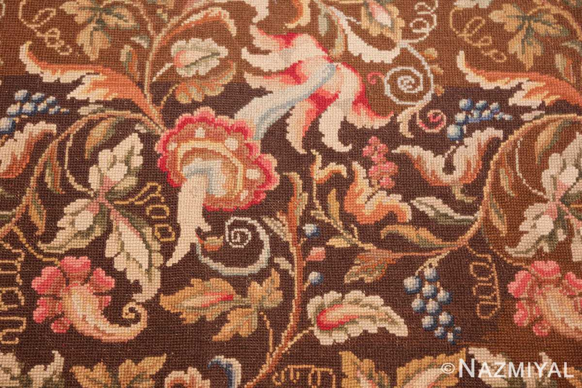 mesmerizing floral antique english needlepoint rug 3000 flowers Nazmiyal