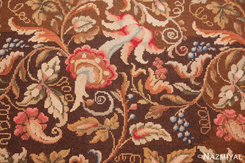mesmerizing floral antique english needlepoint rug 3000 flowers Nazmiyal