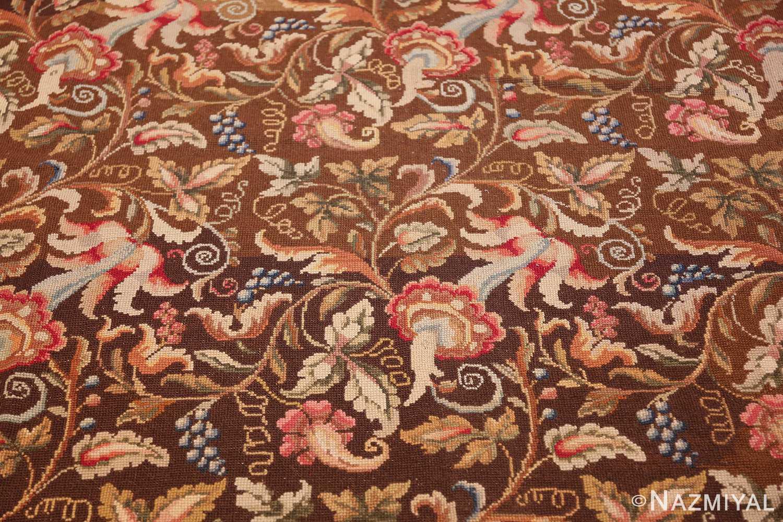 mesmerizing floral antique english needlepoint rug 3000 light Nazmiyal