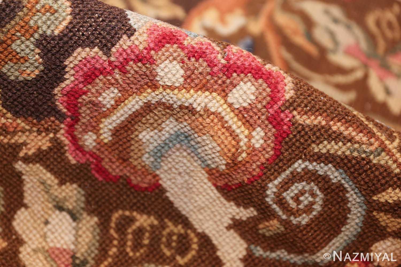 mesmerizing floral antique english needlepoint rug 3000 pile Nazmiyal