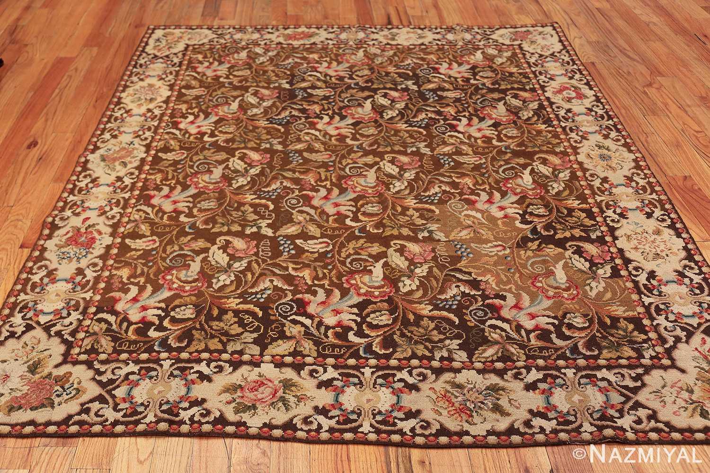 mesmerizing floral antique english needlepoint rug 3000 whole Nazmiyal