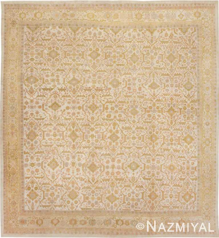 Square Antique Sultanabad Persian Rug #1340 by Nazmiyal Antique Rugs