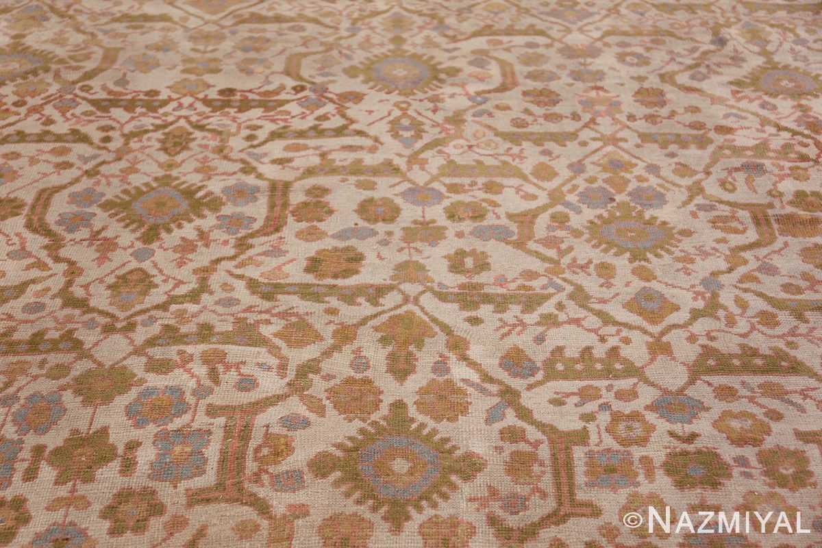 Square Size Antique Sultanabad Persian Rug 1340 Field Closeup Nazmiyal