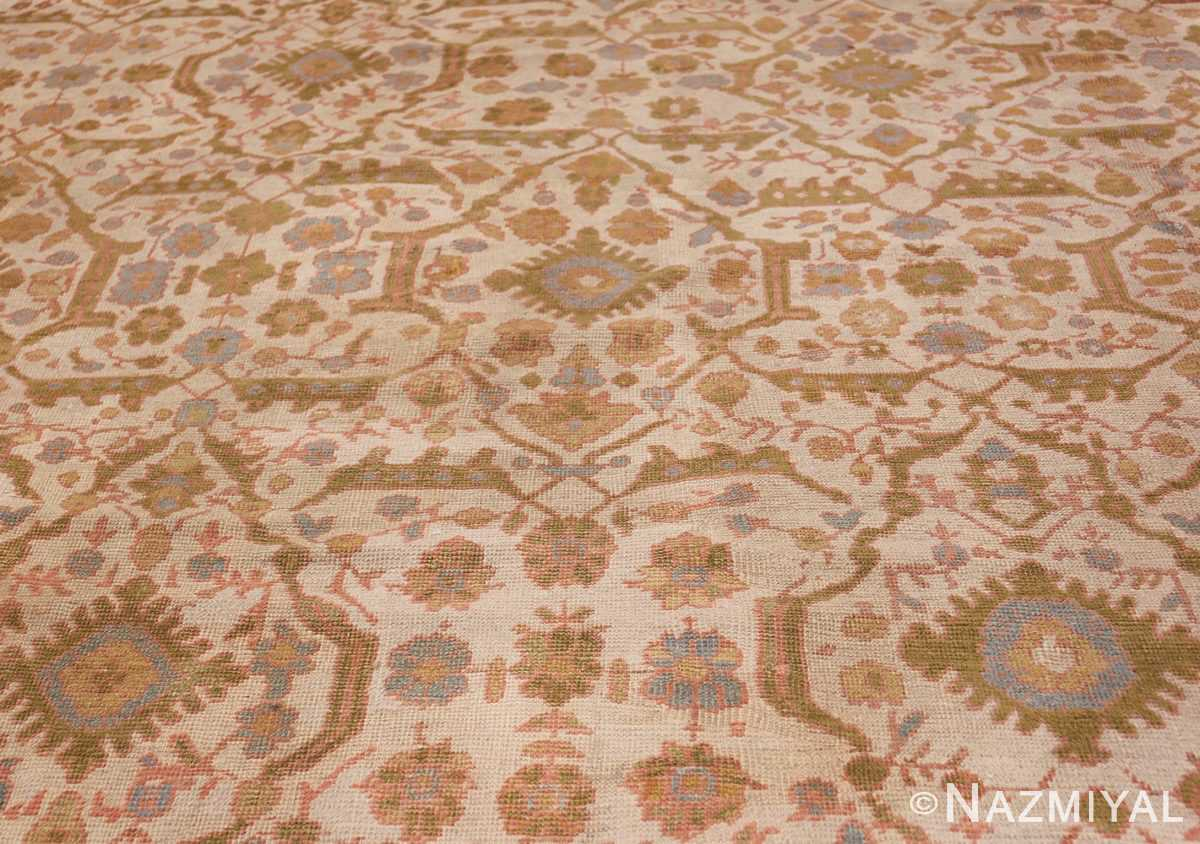 Square Size Antique Sultanabad Persian Rug 1340 Field Wide Shot Nazmiyal