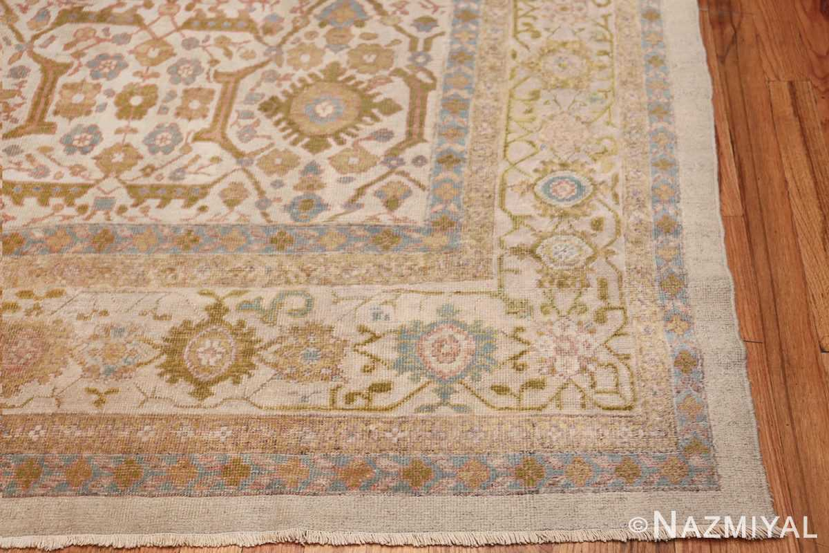 Square Size Antique Sultanabad Persian Rug 1340 Side Corner Nazmiyal