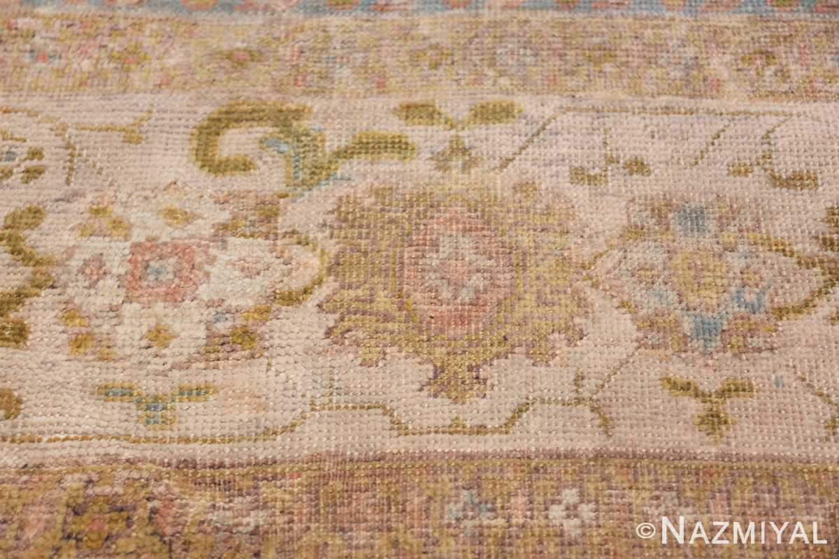 Square Size Antique Sultanabad Persian Rug 1340 Soft Color Flowers Nazmiyal