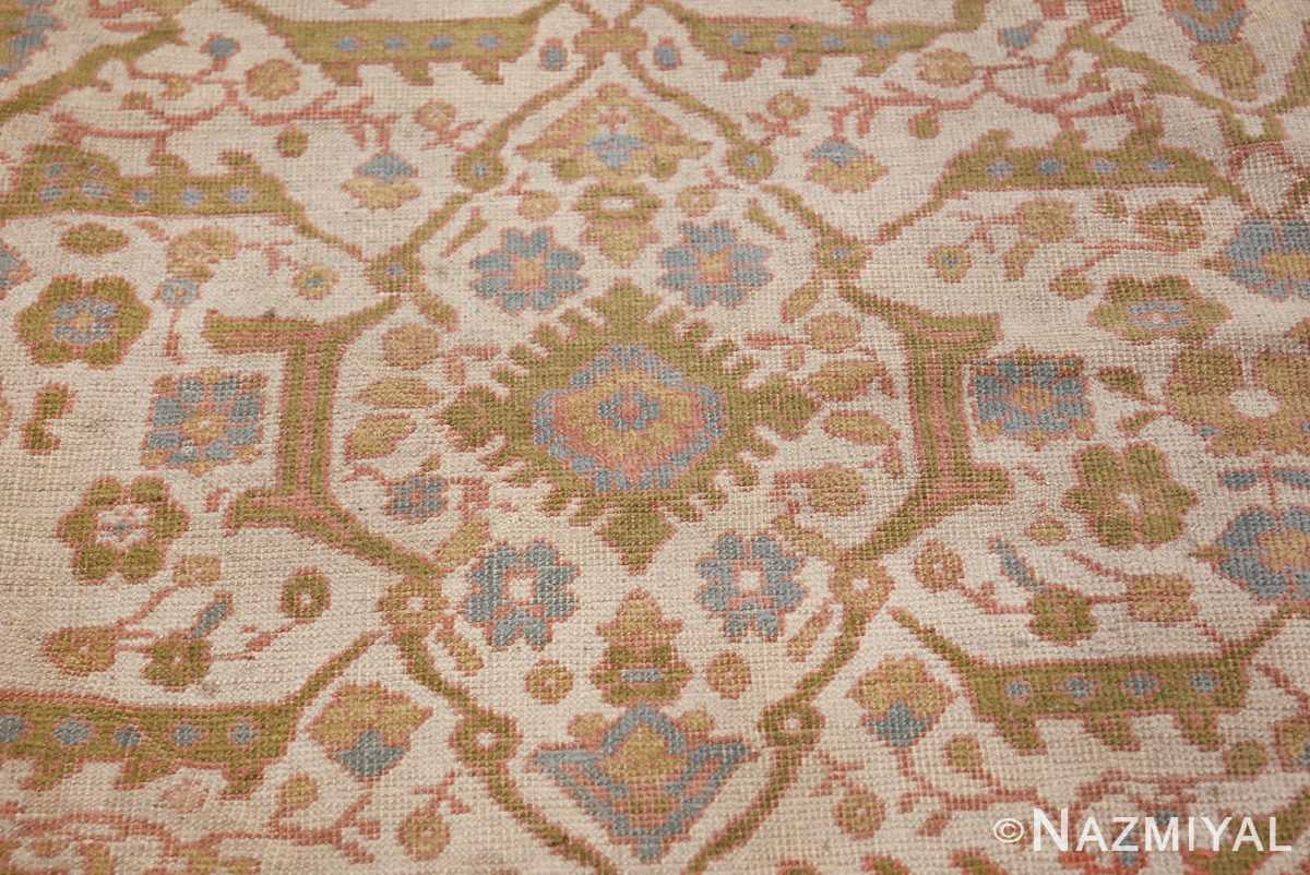 Square Size Antique Sultanabad Persian Rug 1340 Top Down Nazmiyal