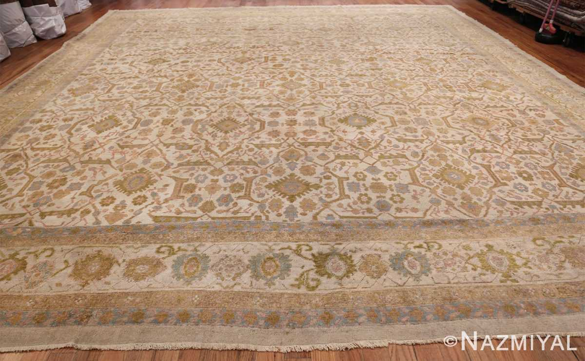 Square Size Antique Sultanabad Persian Rug 1340 Whole Design Nazmiyal
