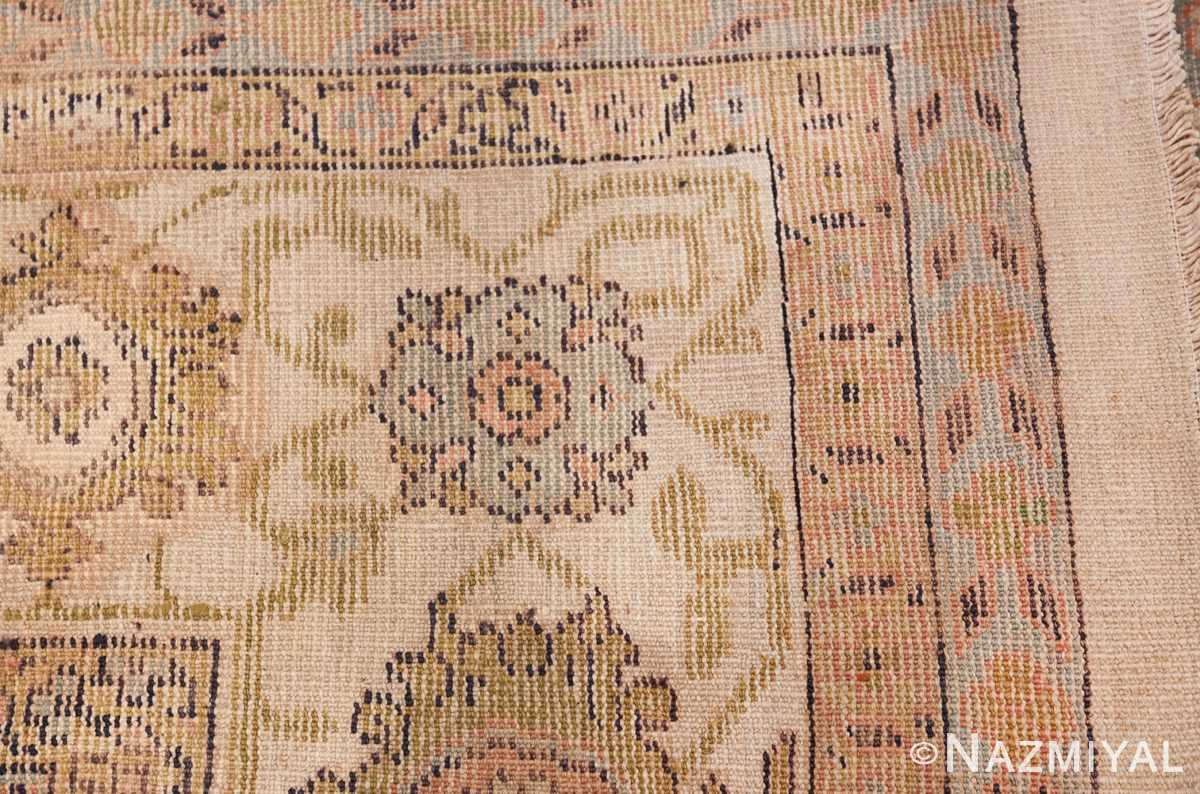 Square Size Antique Sultanabad Persian Rug 1340 Woven Knots Nazmiyal