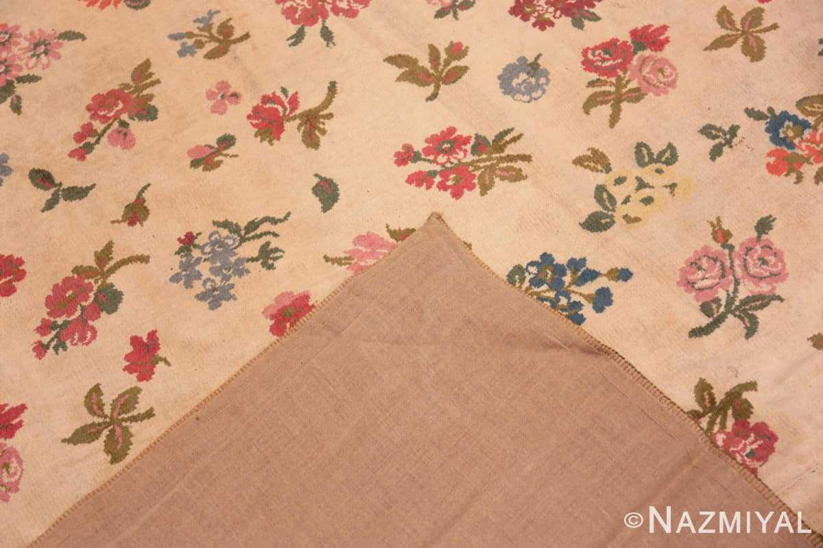 Weave Antique French savonnerie design chenille rug 3422 by Nazmiyal