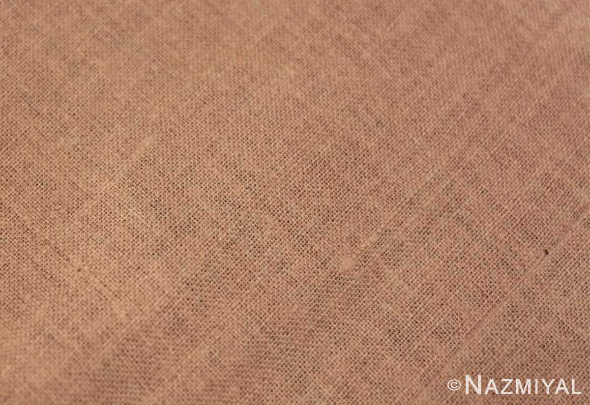 Weave detail Antique French savonnerie design chenille rug 3422 by Nazmiyal