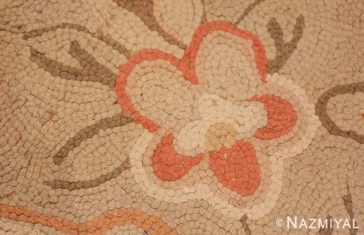 Weave detail Large Antique American hooked rug 2030 by Nazmiyal