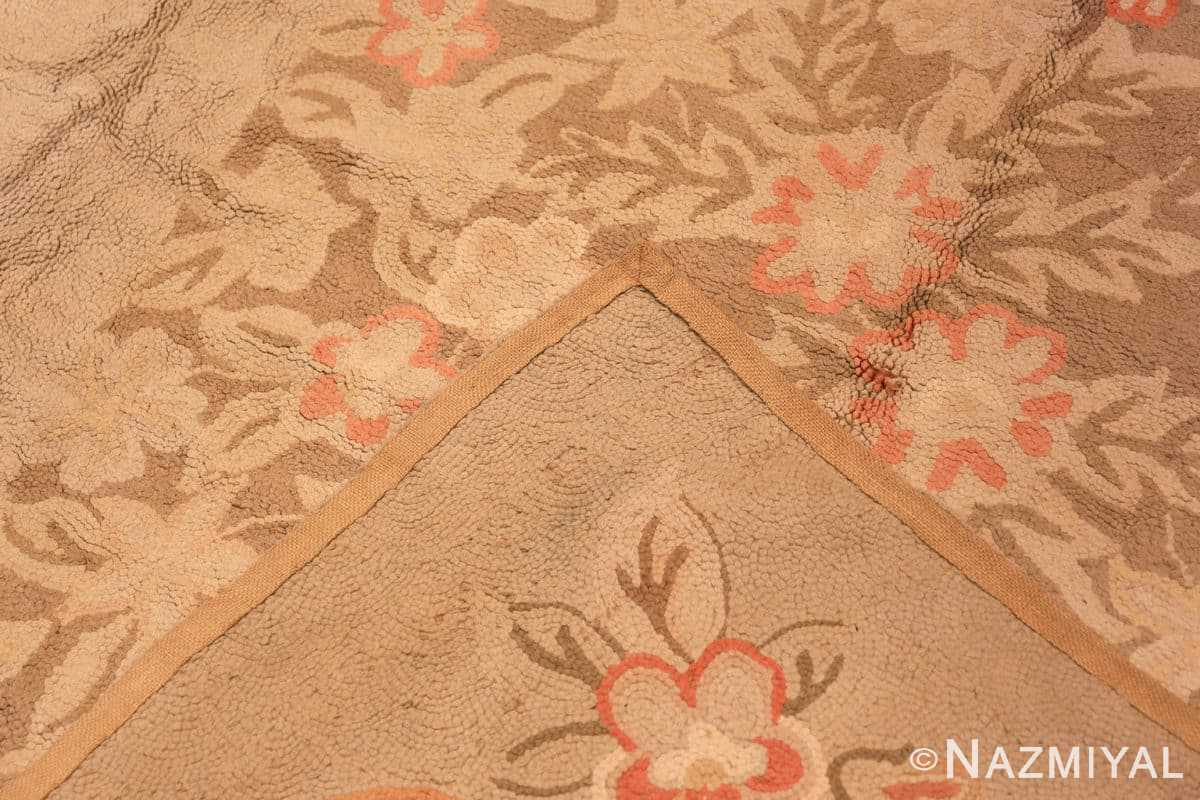Weave Large Antique American hooked rug 2030 by Nazmiyal
