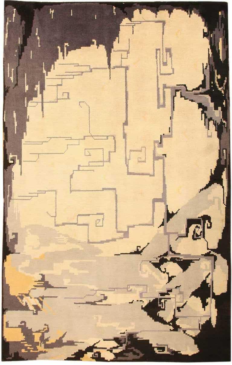 vintag english deco rug by hildo krop 40289 Nazmiyal