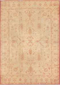 Picture of Decorative Antique Turkish Oushak Rug #2988 from Nazmiyal Antique Rugs in NYC