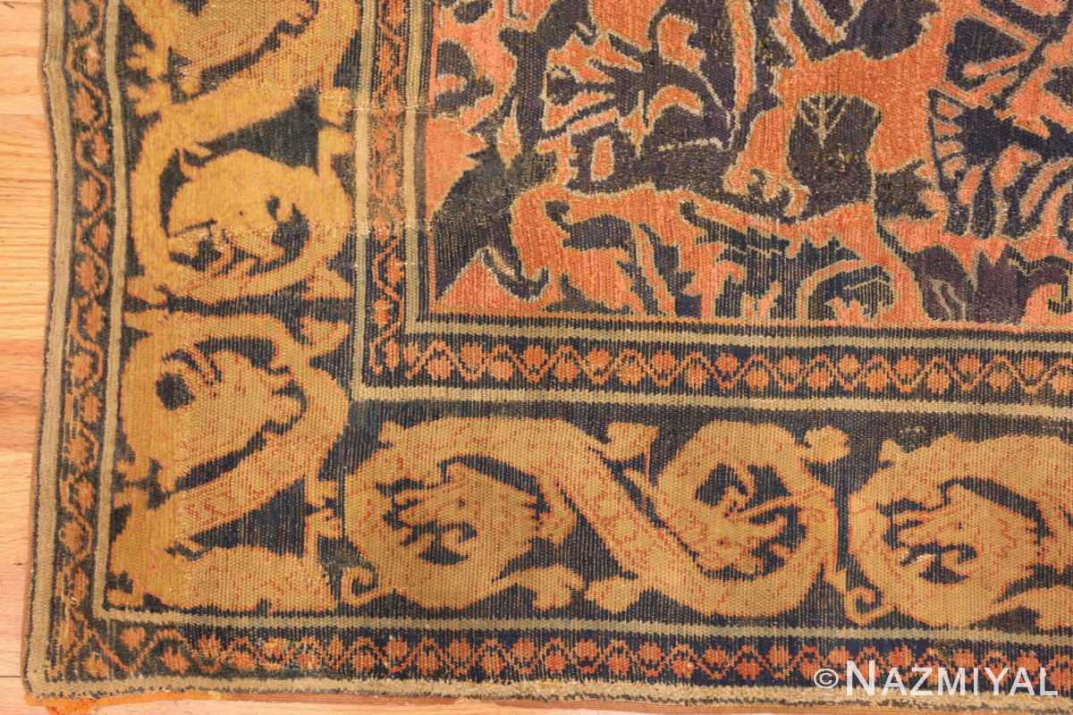 antique 16th century alcaraz oriental rug 3288 corner Nazmiyal