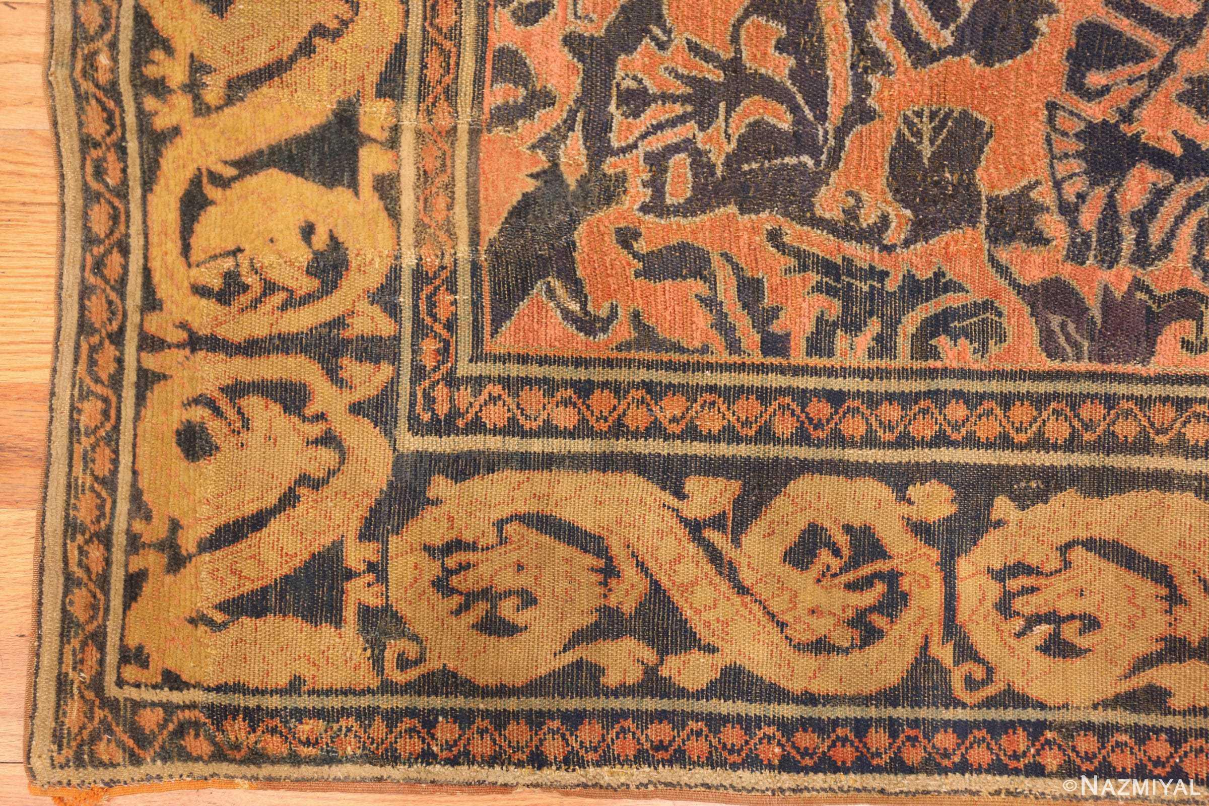 antique 16th century alcaraz oriental rug 3288 corner Nazmiyal