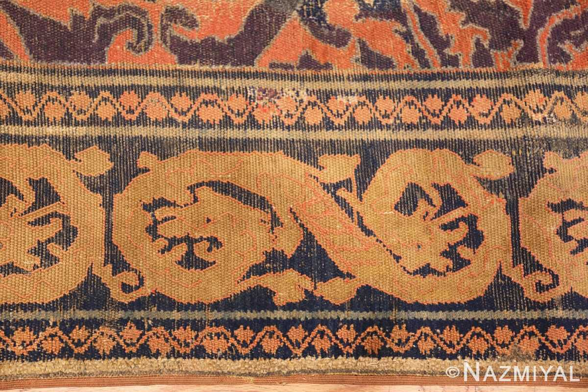 antique 16th century alcaraz oriental rug 3288 dragon Nazmiyal