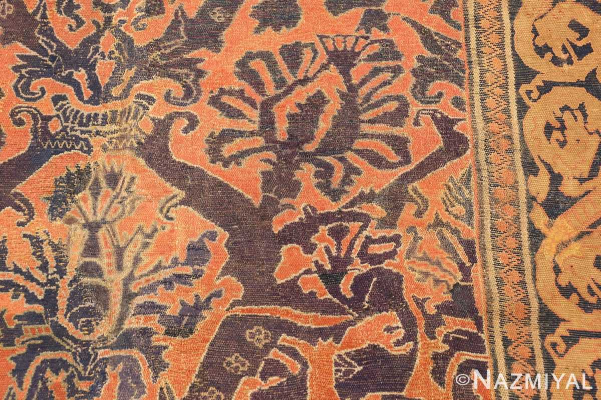 antique 16th century alcaraz oriental rug 3288 part Nazmiyal