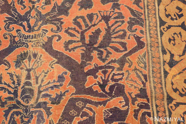 antique 16th century alcaraz oriental rug 3288 part Nazmiyal