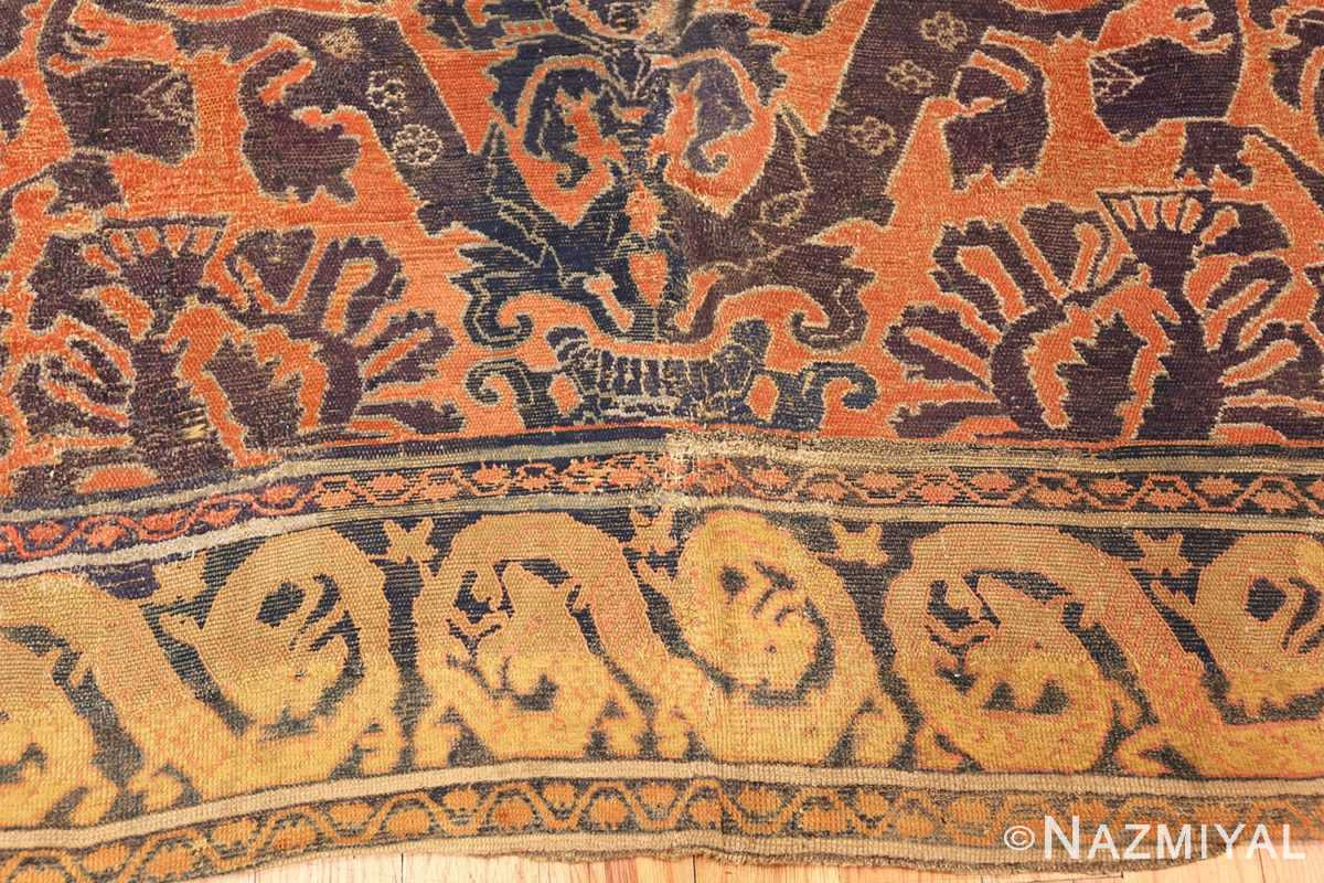 antique 16th century alcaraz oriental rug 3288 side Nazmiyal