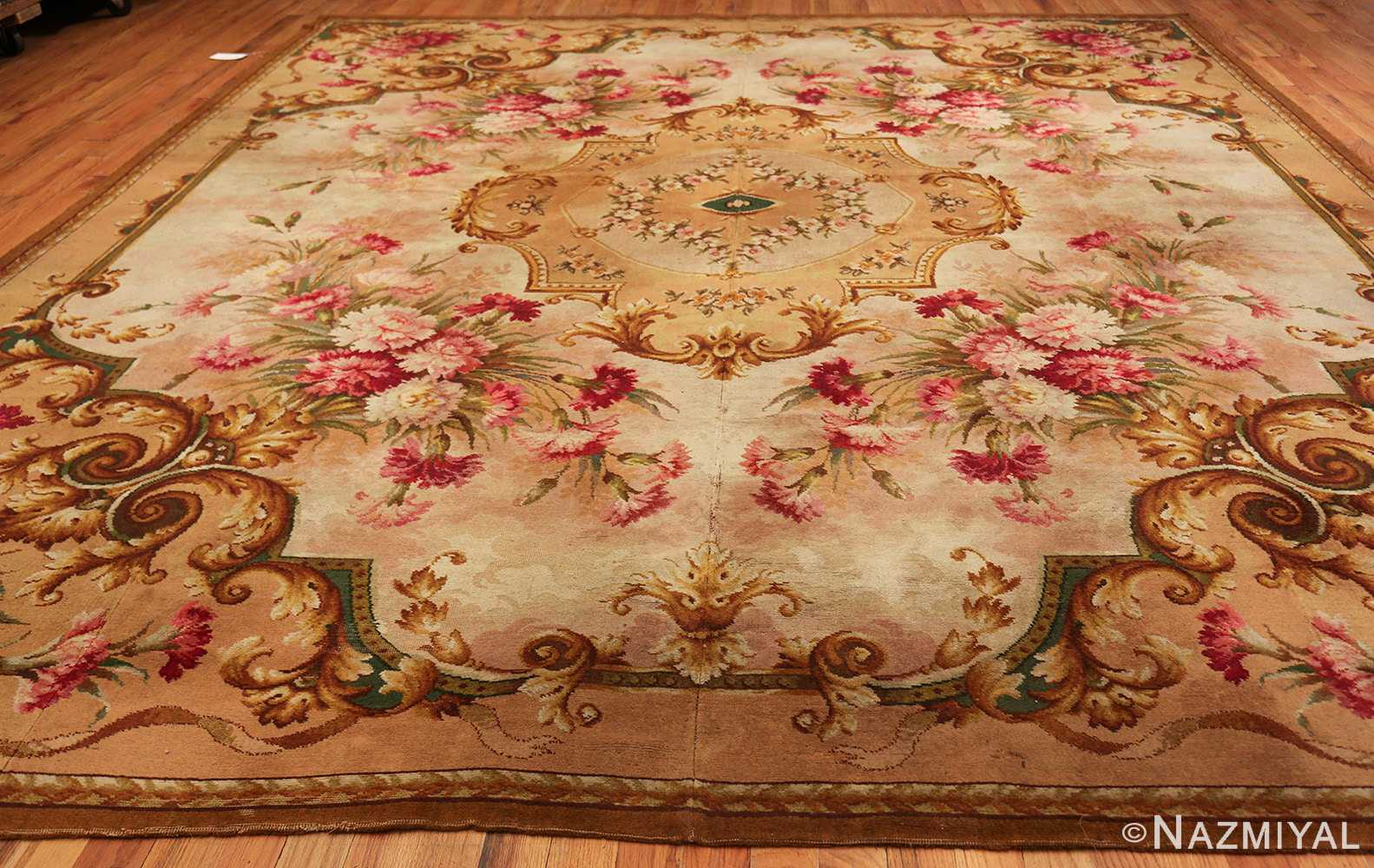 Floral Antique English Axminster Rug 2409 Nazmiyal Rugs
