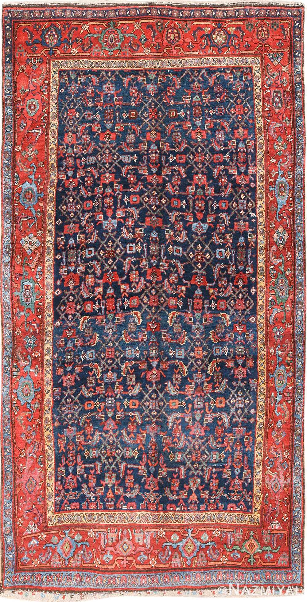 antique bidjar persian rug 41997 Nazmiyal