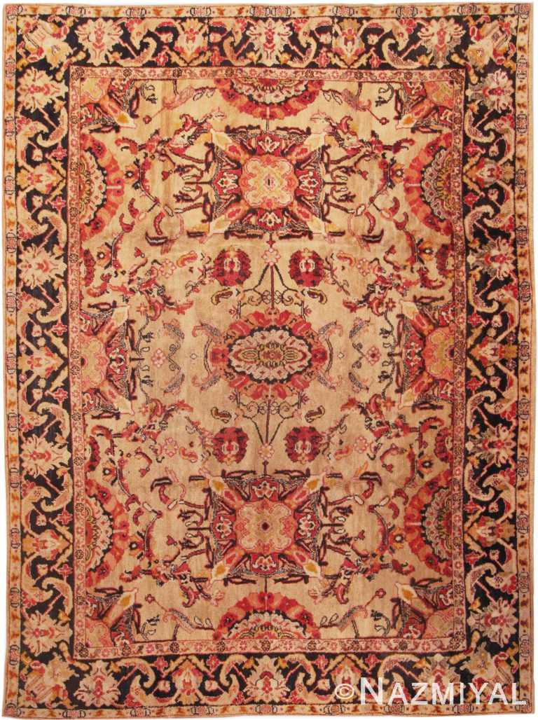 Antique English Axminster Rug #1737 by Nazmiyal Antique Rugs